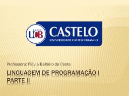 Linguagem de Programação I - Universidade Castelo Branco