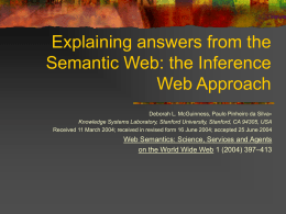 Explaining answers from the Semantic Web