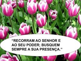 RECORRAM AO SENHOR