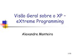 Aula 16 - Introducao XP