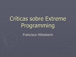 CrticassobreExtremeProgramming