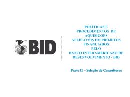 BID - Seleção de Consultores