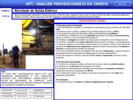APT 13 - Atividade de Solda Elétrica