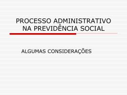 processo administrativo e judicial na previdência
