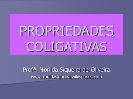 PROPRIEDADES COLIGATIVAS - norildasiqueira