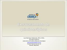 Extravasamento de quimioterápicos
