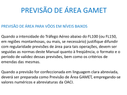 PREVISÃO DE ÁREA GAMET