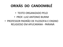 orixás do candomblé