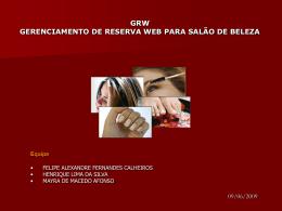 grw gerenciamento de reserva web para salão de beleza
