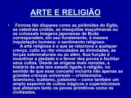 ARTE E RELIGIAO