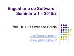 Definição do Seminário 1 - Prof. Dr. Luis Fernando Garcia