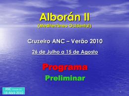 Mediterrâneo Ocidental - Associação Nacional de Cruzeiros