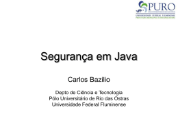 Segurança em Java - Universidade Federal Fluminense