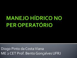 MANEJO HÍDRICO NO PER OPERATÓRIO - (LTC) de NUTES