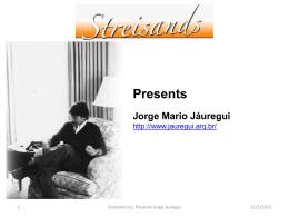 Streisands presentation