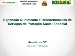 Expansão Qualificada e Reordenamento de - COGEMAS-PR