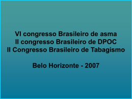 VI congresso Brasileiro de asma II congresso Brasileiro de DPOC II