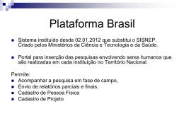 5) plataforma_brasil slide 2012