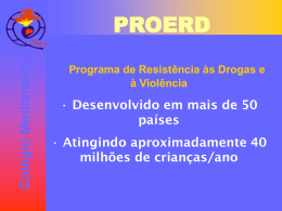 Prevenção/redução uso de drogas e violência