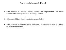 Solver - Universidade Castelo Branco