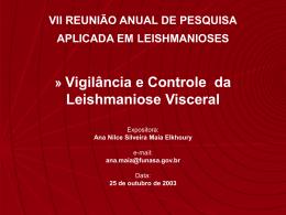 objetivos do programa de controle da leishmaniose visceral