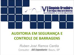 AUDITORIA EM SEGURANÇA E CONTROLE DE BARRAGENS