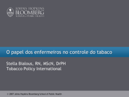 Slide 1 - Global Tobacco Control