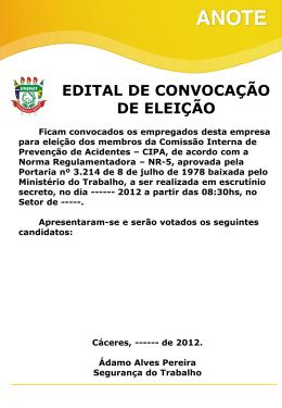 Edital de Convocação para Eleição (MURAL)