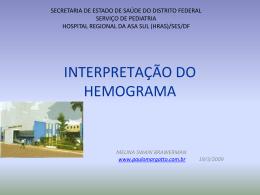 Interpretação do hemograma em pediatria