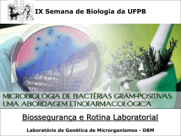 Biossegurança e Rotina Laboratorial