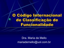 O Código Internacional de Classificação das Funções e seu
