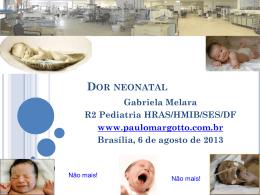 Dor neonatal - Paulo Roberto Margotto