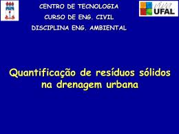 Quantificação de Resíduos Sólidos na Drenagem Urbana