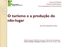 O turismo e a produção do não
