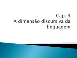 a dimensao discursiva da linguagem