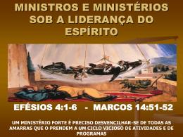 MINISTROS E MINISTÉRIOS
