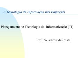 Planejamento de informatização - Fase 1