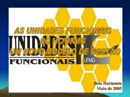 PROJETO UNIDADE FUNCIONAL HC/UFMG