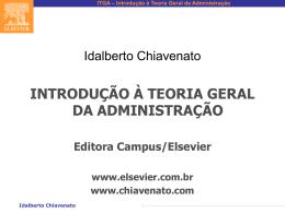 ITGA – Introdução à Teoria Geral da Administração