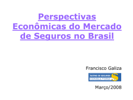 """Perspectivas Econômicas do Mercado de"