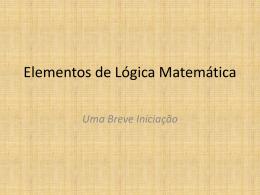 lógica - Instituto de Matemática