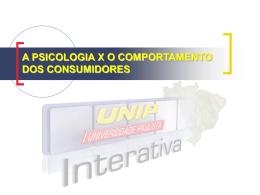 A PSICOLOGIA XO COMPORTAMENTO DOS CONSUMIDORES