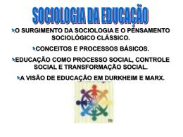 sociologia da educação 2014