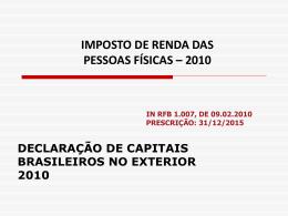 Declaração de capitais brasileiros no exterior