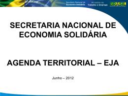 Apresentação Secretaria Nacional de Economia Solidária