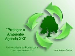 Proteger o Ambiente/ Agenda XXI