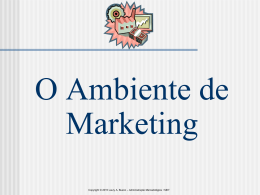 O AMBIENTE DO MARKETING