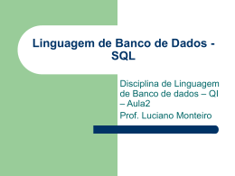 Aula 2 - Prof. Luciano Monteiro
