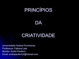 criatividade - Universidade Federal Fluminense
