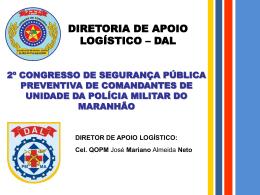 APRESENTAÇÃO DAL 2014 - Polícia Militar do Maranhão.
